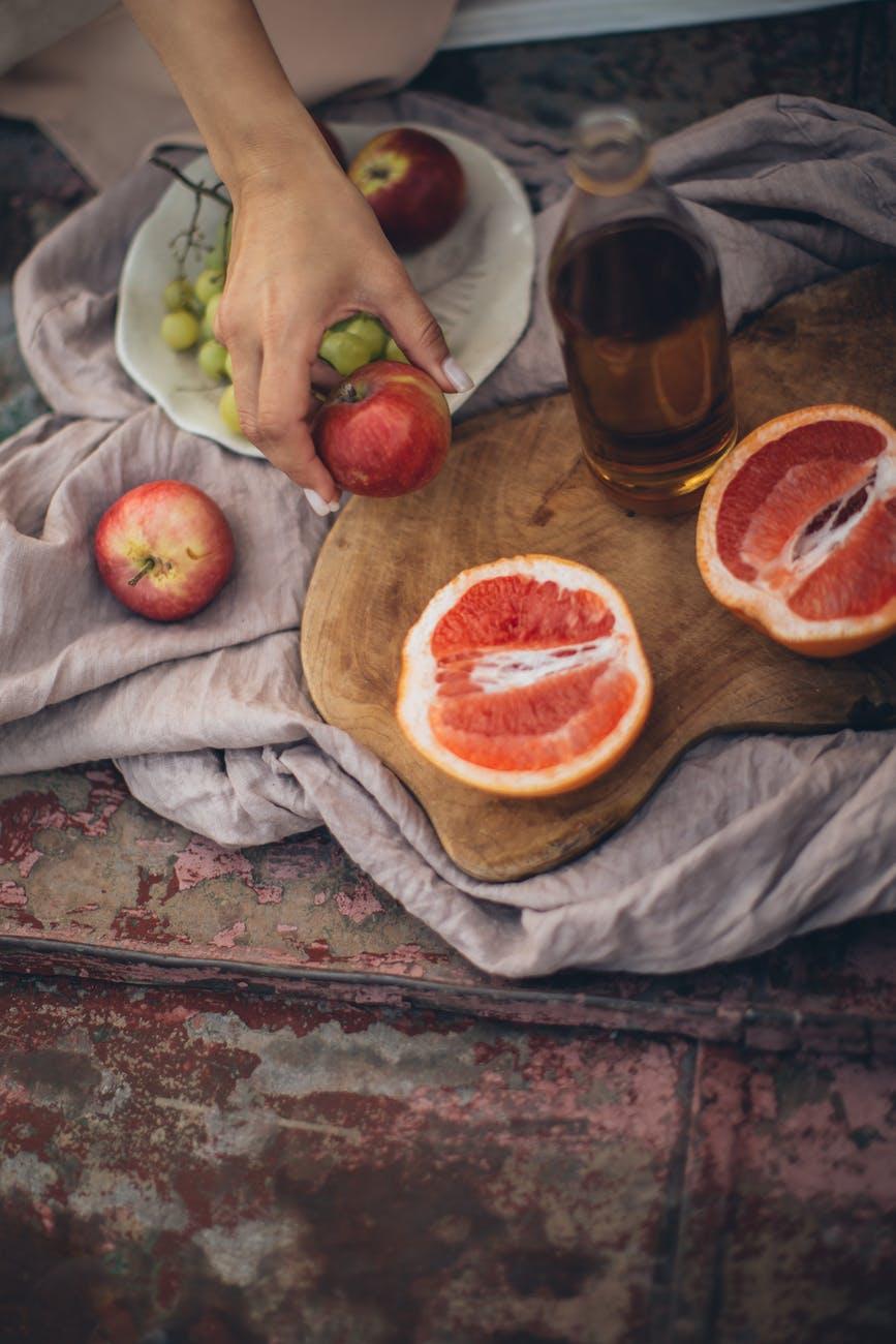 crop woman having fresh healthy snack